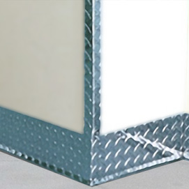 Diamond Plate Wall Guards Corner Guards Amp Kick Plate Protection For Walls Amp Doors